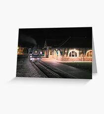 Train & Depot Greeting Card
