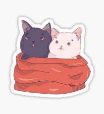 bundle of cozy cats Sticker