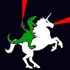 Dinosaur Riding Unicorn by jezkemp