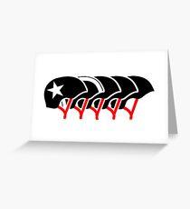 Roller Derby helmets (Black Design) Greeting Card