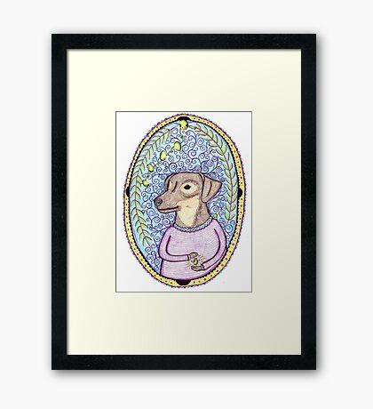 Olive and her amazing olives Framed Print