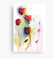 Loose Watercolor Poppies Canvas Print