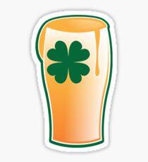 IRISH shamrock pint glass Sticker