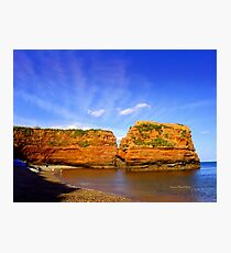 Red Rock in Sea Photographic Print