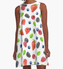 Summer berries pattern A-Line Dress