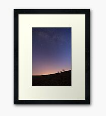 Long exposure of the Milky Way. Photographed in the Negev Desert, Israel  Framed Print