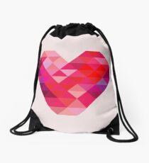 Prism Heart Drawstring Bag