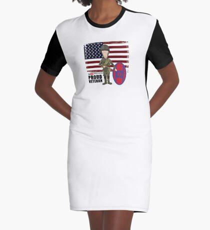 30th Infantry- Proud Veteran Graphic T-Shirt Dress