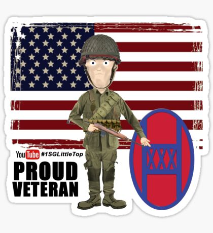 30th Infantry- Proud Veteran Sticker