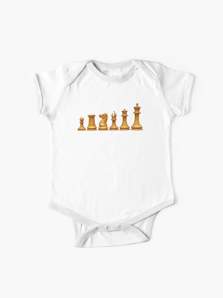 CHESS, Chess Pieces, Pawn, Rook, Knight, Bishop, Queen, King, Original  Staunton | Baby One-Piece