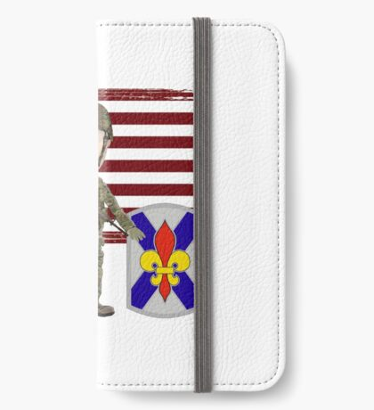 256 Infantry- Proud Veteran iPhone Wallet