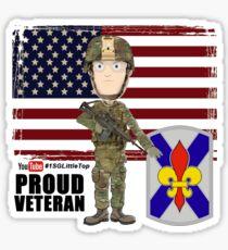256 Infantry- Proud Veteran Sticker