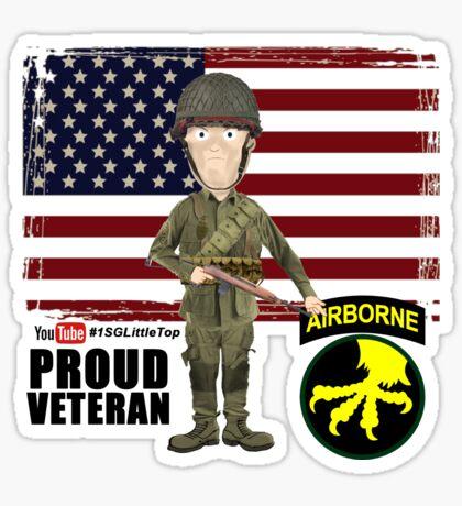 17th Airborne Division- Proud Veteran Sticker