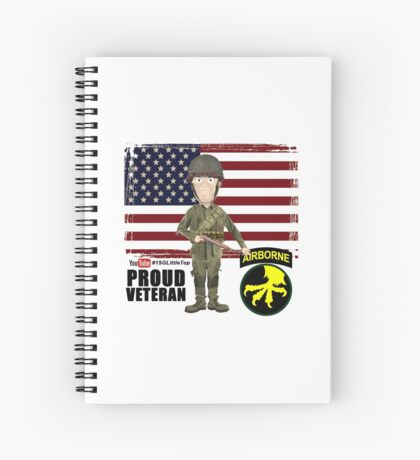 17th Airborne Division- Proud Veteran Spiral Notebook