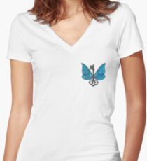 A Simple Flying Charm Women's Fitted V-Neck T-Shirt