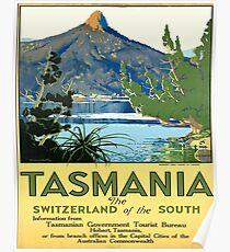 Tasmania, Australia, vintage, travel poster Poster