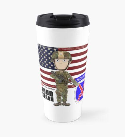 10th Mountain- Proud Veteran Travel Mug