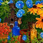 Morning Glory and Sunflower Summer  by Sharen Chatterton