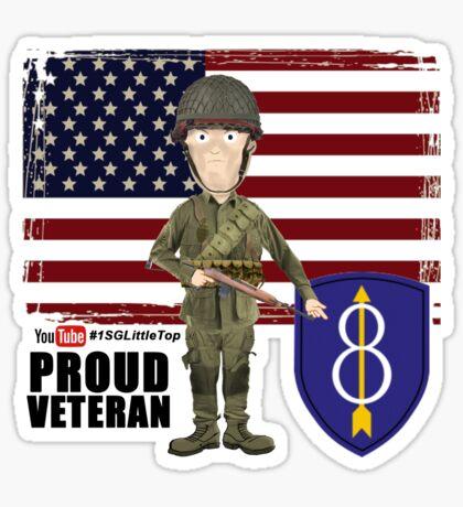8th Infantry- Proud Veteran Sticker
