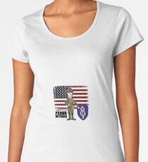 8th Infantry- Proud Veteran Women's Premium T-Shirt