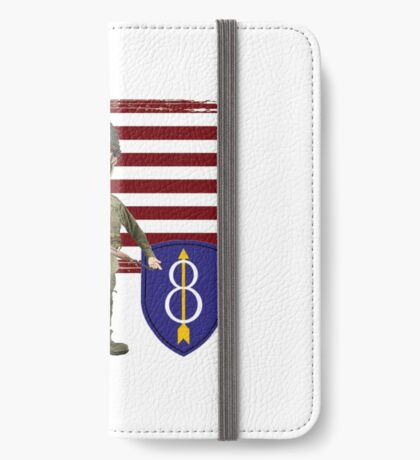 8th Infantry- Proud Veteran iPhone Wallet