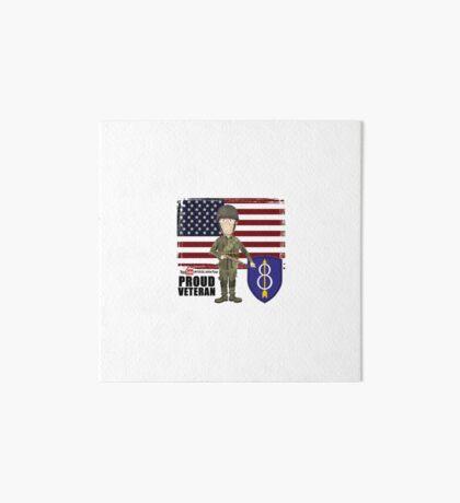8th Infantry- Proud Veteran Art Board Print