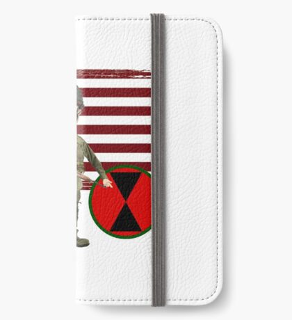 7th ID WW2- Proud Veteran iPhone Wallet