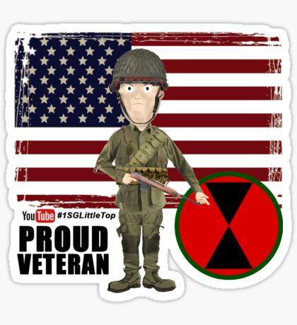 7th ID WW2- Proud Veteran Sticker