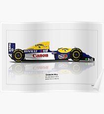 Williams FW15C - Damon Hill Poster