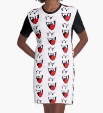 Boo Face Graphic T-Shirt Dress