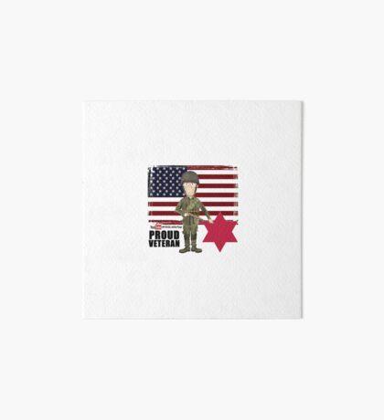 6th Infantry Division- Proud Veteran Art Board Print