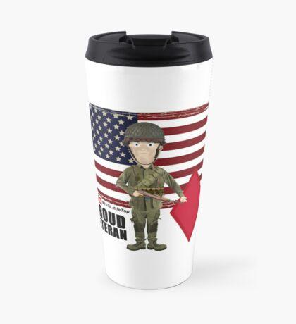 5th Infantry Division- Proud Veteran Travel Mug