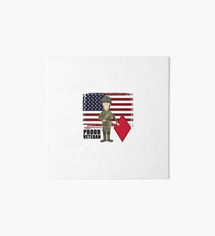 5th Infantry Division- Proud Veteran Art Board Print