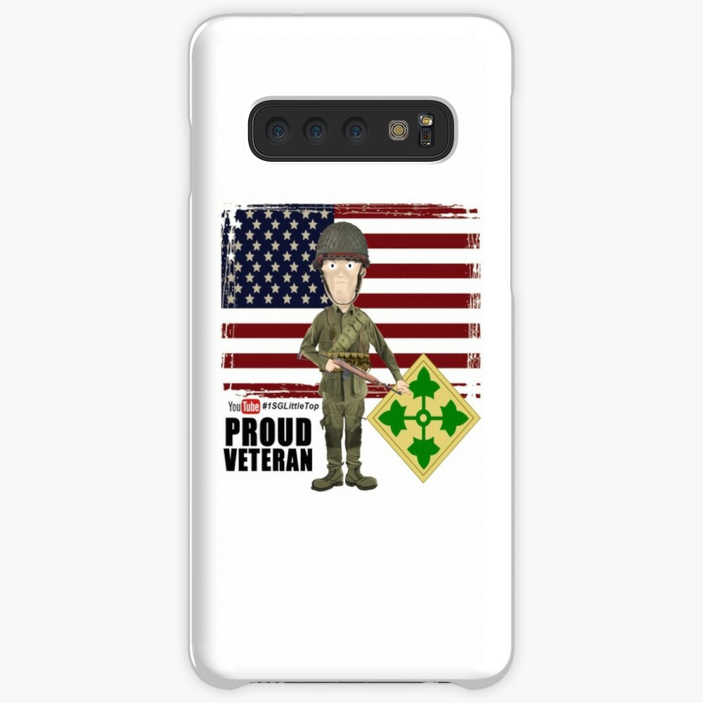4th Infantry Division WW2 - Proud Veteran Case & Skin for Samsung Galaxy