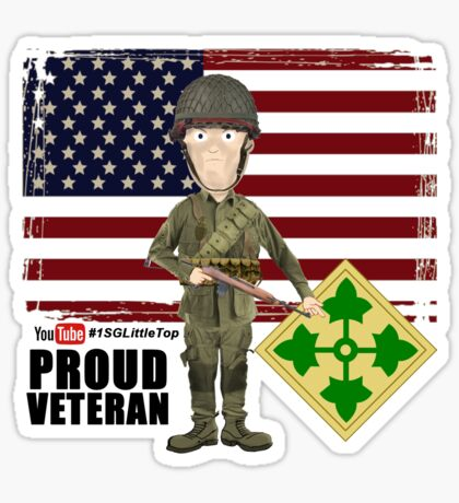 4th Infantry Division WW2 - Proud Veteran Sticker