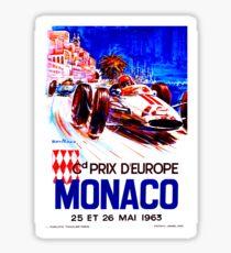 MONACO: Vintage Grand Prix Auto Racing Advertising Print Sticker