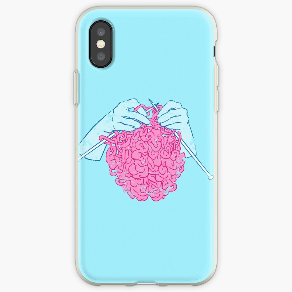 Knitting a brain iPhone Case & Cover