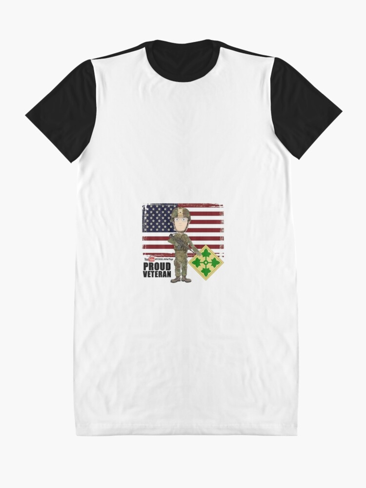Alternate view of 4th Infantry Division - Proud Veteran of OIF / OEF Graphic T-Shirt Dress