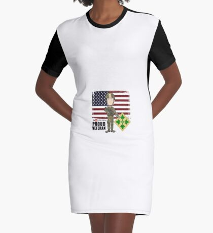 4th Infantry Division - Proud Veteran of OIF / OEF Graphic T-Shirt Dress