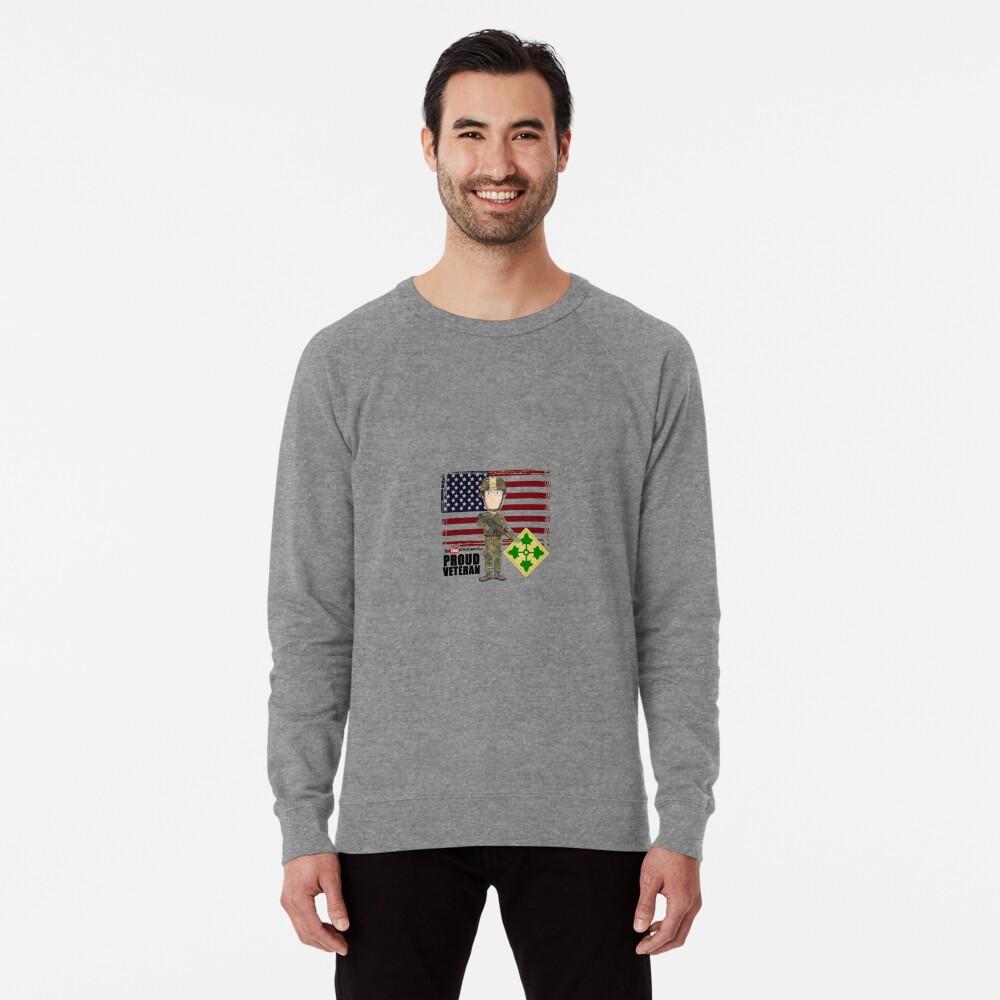 4th Infantry Division - Proud Veteran of OIF / OEF Lightweight Sweatshirt