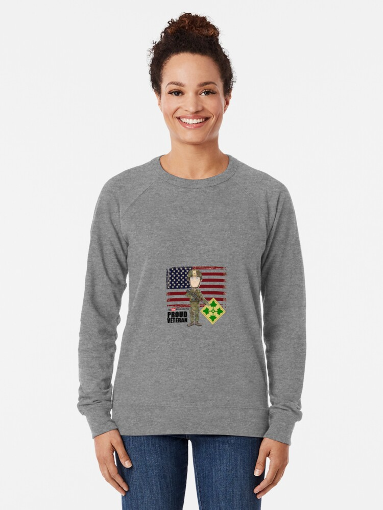 Alternate view of 4th Infantry Division - Proud Veteran of OIF / OEF Lightweight Sweatshirt