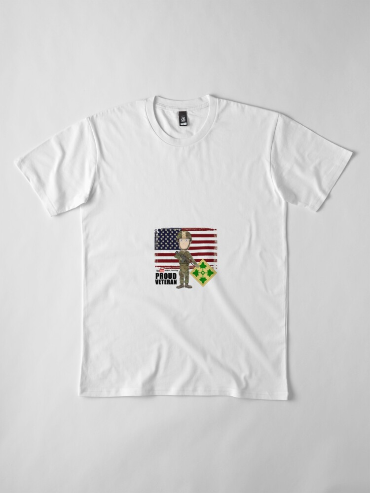 Alternate view of 4th Infantry Division - Proud Veteran of OIF / OEF Premium T-Shirt