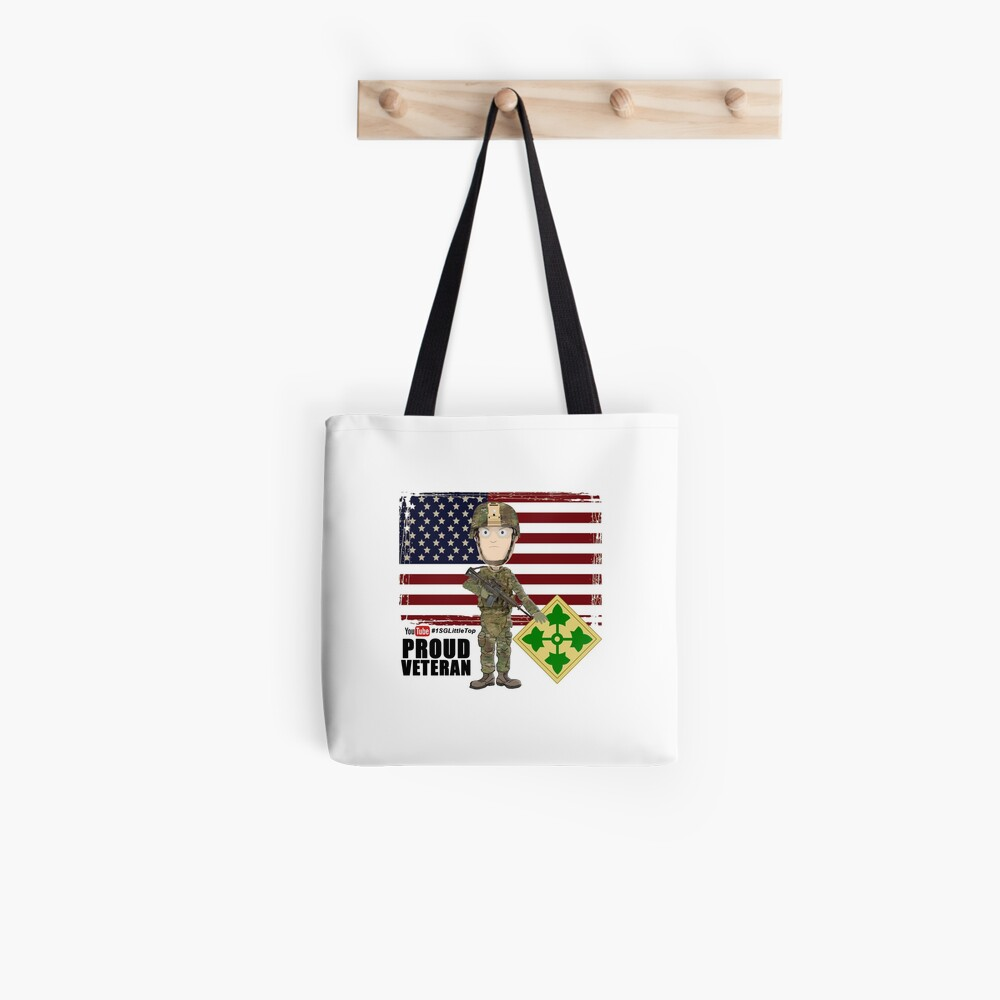 4th Infantry Division - Proud Veteran of OIF / OEF Tote Bag