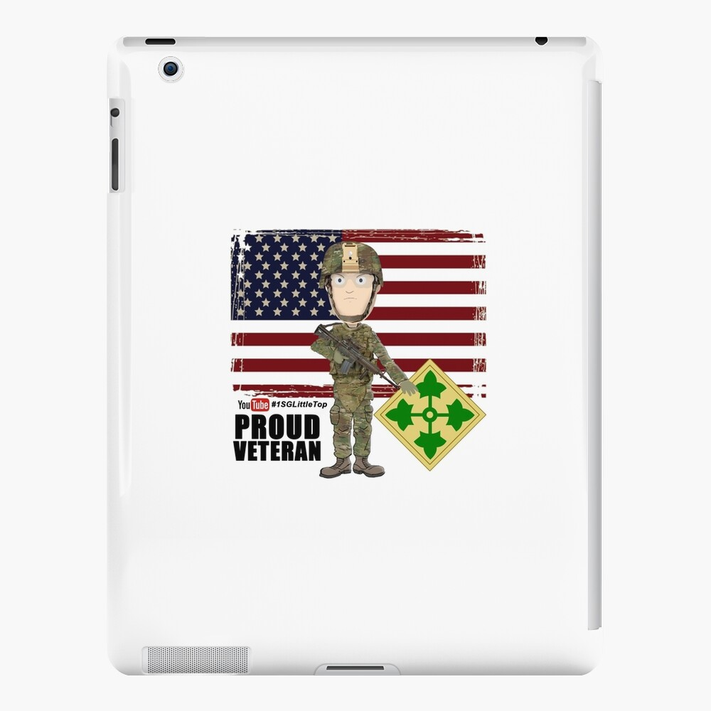4th Infantry Division - Proud Veteran of OIF / OEF iPad Case & Skin
