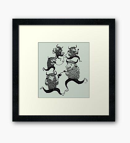 YAKKING YAKS Framed Print