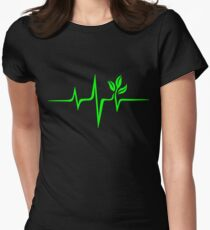 Pulse green go vegan save earth wave heartbeat  T-Shirt