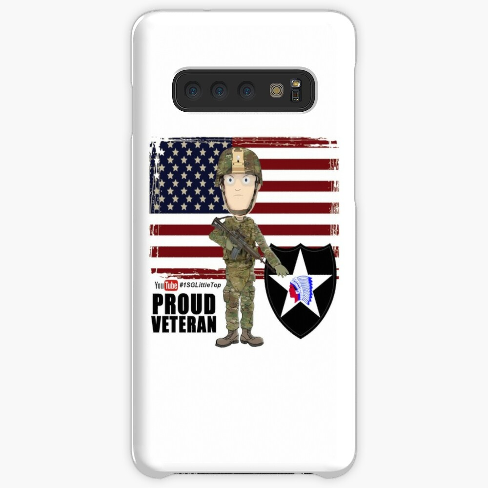 2nd Infantry Division - Proud Veteran Case & Skin for Samsung Galaxy