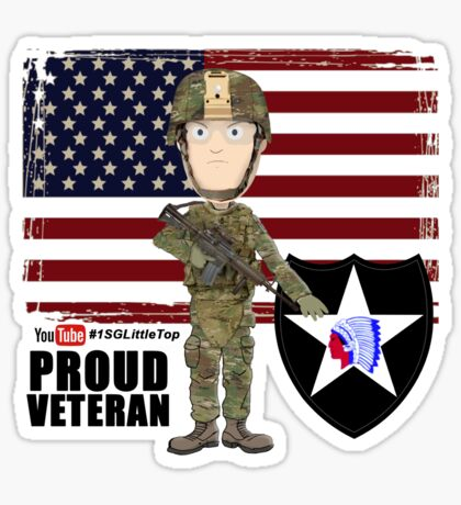 2nd Infantry Division - Proud Veteran Sticker