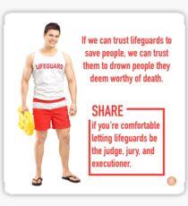 Lifeguard meme Sticker