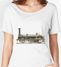 An Old Steam Locomotive Train Women's Relaxed Fit T-Shirt